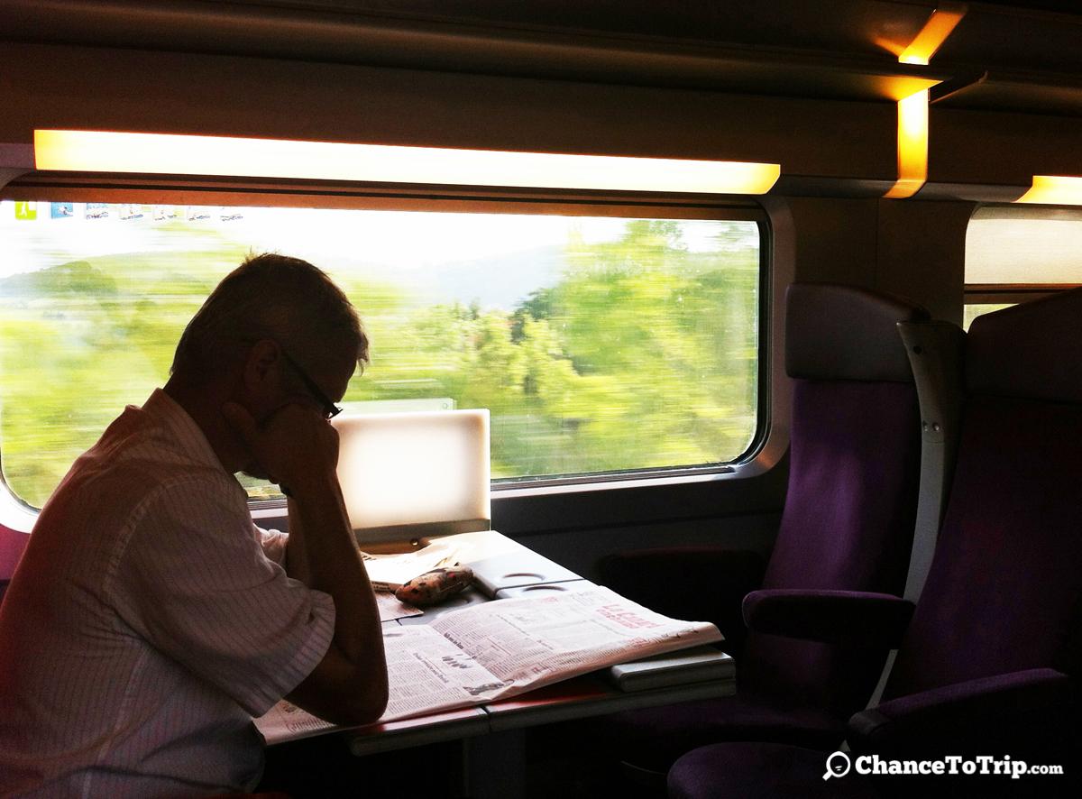 Поезд из Парижа в Турин. © В.Ф.