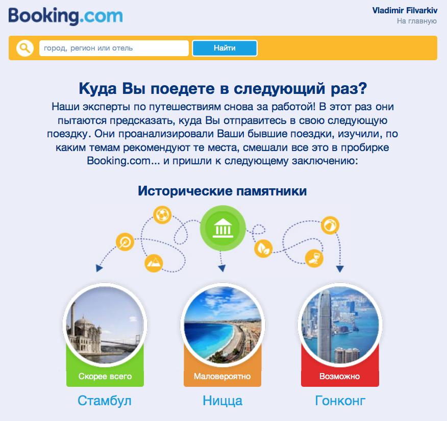 Письмо от Booking.com | Самостоятельные путешествия ChanceToTrip.com