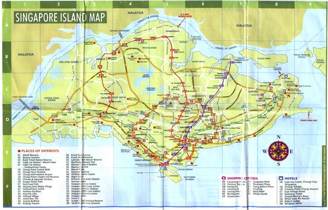 Карта и путеводитель Сингапур | Самостоятельные путешествия ChanceToTrip.com