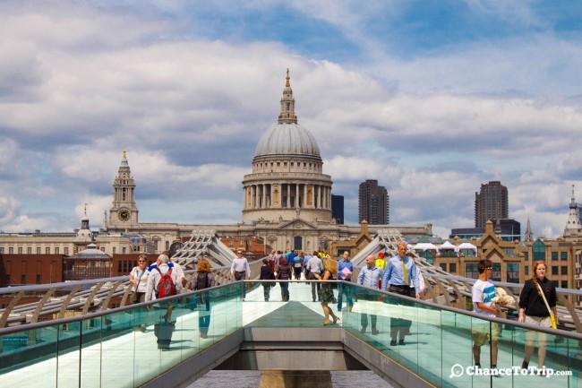 St. Pauls Cathedral и мост Миллениум, Лондон | Самостоятельные путешествия ChanceToTrip.com