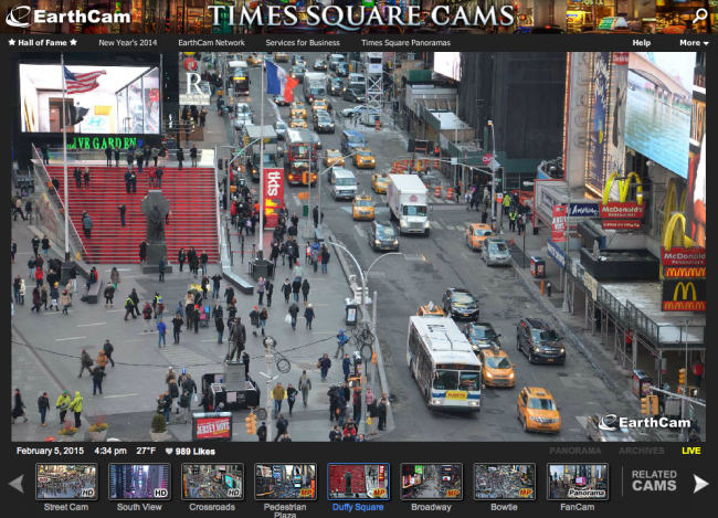 Times Square Cams | HD веб-камеры на Таймс Сквер, Нью-Йорк