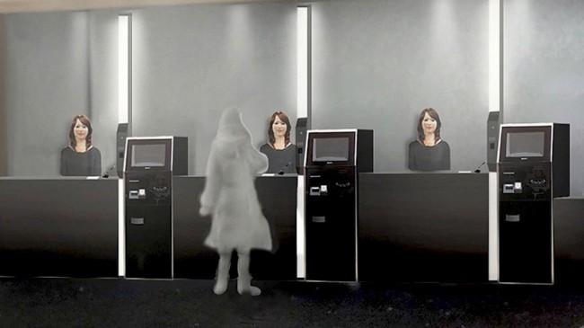 Стойка регистрации, Отель Henn na Hotel Tokyo | Самостоятельные путешествия ChanceToTrip.com