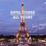 Выиграй размещение в эксклюзивных апартаментах на Эйфелевой башне