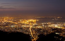 Ночной Рио-де-Жанейро, вид со смотровой площадки у подножия Статуи Христа