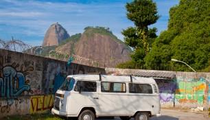 Вид на пик Сахарная голова со стороны юго-восточных причалов Рио