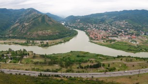 Вид на Мцхету со стороны Моныстыря Джвари, Грузия | Vladimir Fil'varkiv