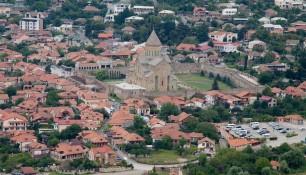 Вид на Собор Светицховели со стороны Моныстыря Джвари, Грузия | Vladimir Fil'varkiv