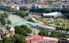 Вид на Мост Европы и Музыкальный театр (Трубы), Тбилиси, Грузия | Vladimir Fil'varkiv