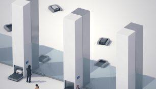 Накопительные башни багажа