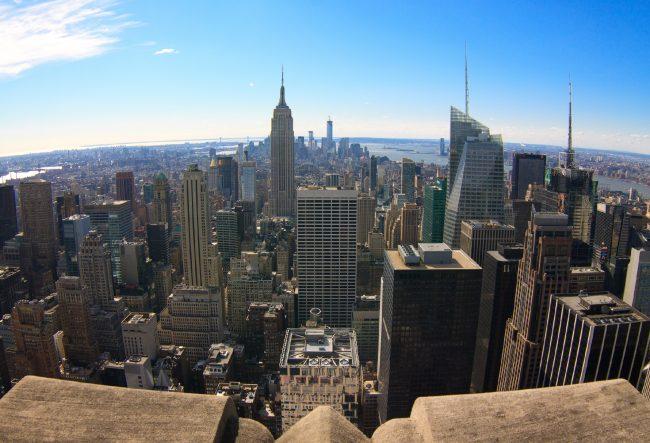 Вид на Нижний Манхэттен с Рокфеллеровского центра, Нью-Йорк | Владимир Фильваркив