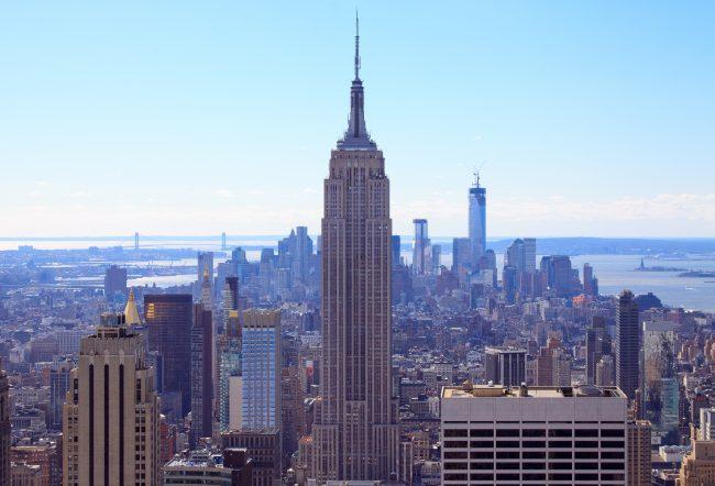 Вид на Эмпайр с Рокфеллеровского центра, Нью-Йорк, Манхэттен | Владимир Фильваркив