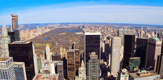 Вид на Центральный Парк с Рокфеллеровского центра, Нью-Йорк, Манхэттен | Владимир Фильваркив